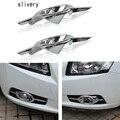 ABS Chrome niebla Delantera de la lámpara cubierta de la luz antiniebla marco etiqueta decoración para Chevrolet Cruze