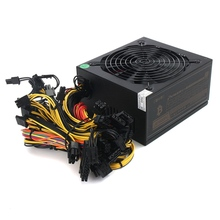 1600W Modular Power Supply For 6 GPU Eth Rig Ethereum Coin Mining Miner 90 Gold New Computer Power Supply For BTC