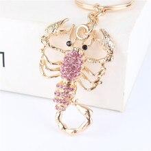 Fashion Scorpion New Cute Pendant Crystal Charm Purse Car Key Keyring Keychain Party Wedding Birthday Creative Good Gift