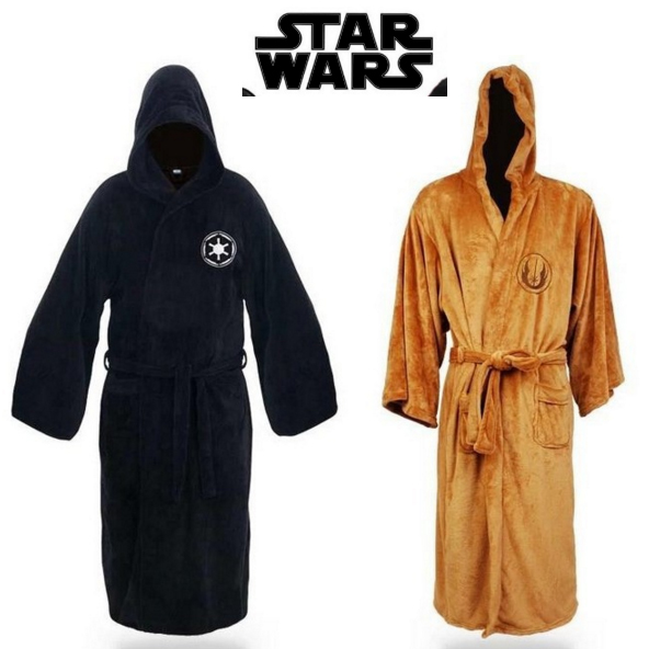 Darth-Vader-Costume Men Star Wars Darth Vader Costume Jedi Darth Vader Suit Hoodie Bathrobe Robe Adult Cosplay Costume