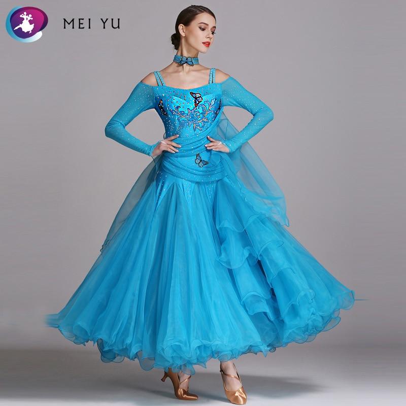 MEI YU YL230 Modern Dance Costume Women Ladies Dancewear Waltzing Tango Dancing Dress Ballroom Costume Evening Party Dress