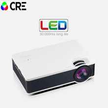 Best gifts for Kids Parents Newest Ultra Mini projector 800*480 Support 1920*1080 video Projector Multi language