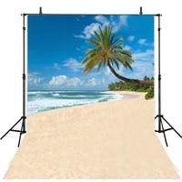 Sea Beach Backdrop Photography Backgrounds Vinyl Backdrops For Photography Tropical Trees Background For Photo Studio Fotografia