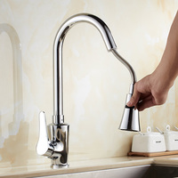 Classic Pull Out Kitchen Mixer Tap Of Single Handle Single Hole Kitchen Faucet With Hot Cold