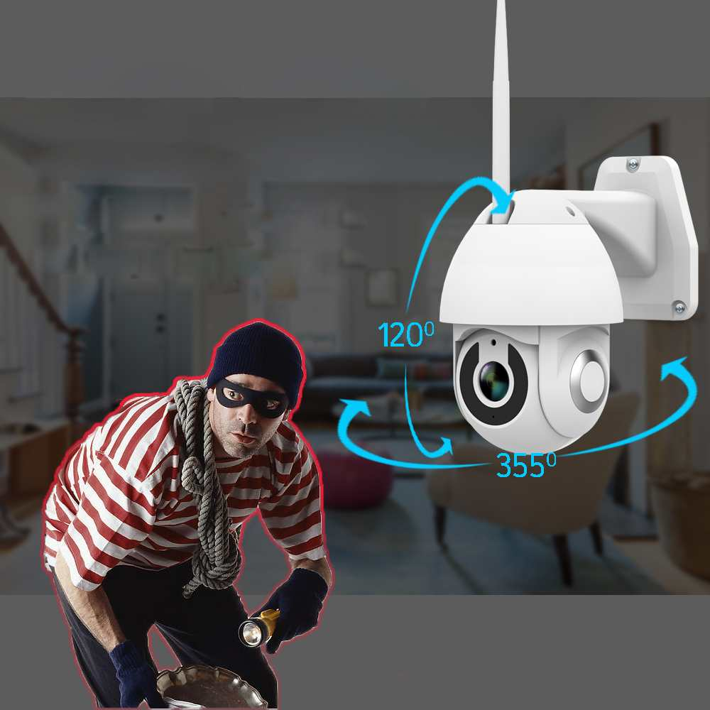 Image 3 - 2019 New Xiaovv OU 9113 M4 HD 1080P 2MP IP Camera Indoor Outdoor Security Smart Camera WIF PTZ  Infrared Night Version-in Surveillance Cameras from Security & Protection