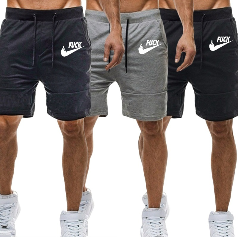 Brand Running Shorts Men Fitness Solid Drawstring Sport Shorts Gym Exercise Loose Fitness Gym Shorts Summer 2019 New Running Running Shorts