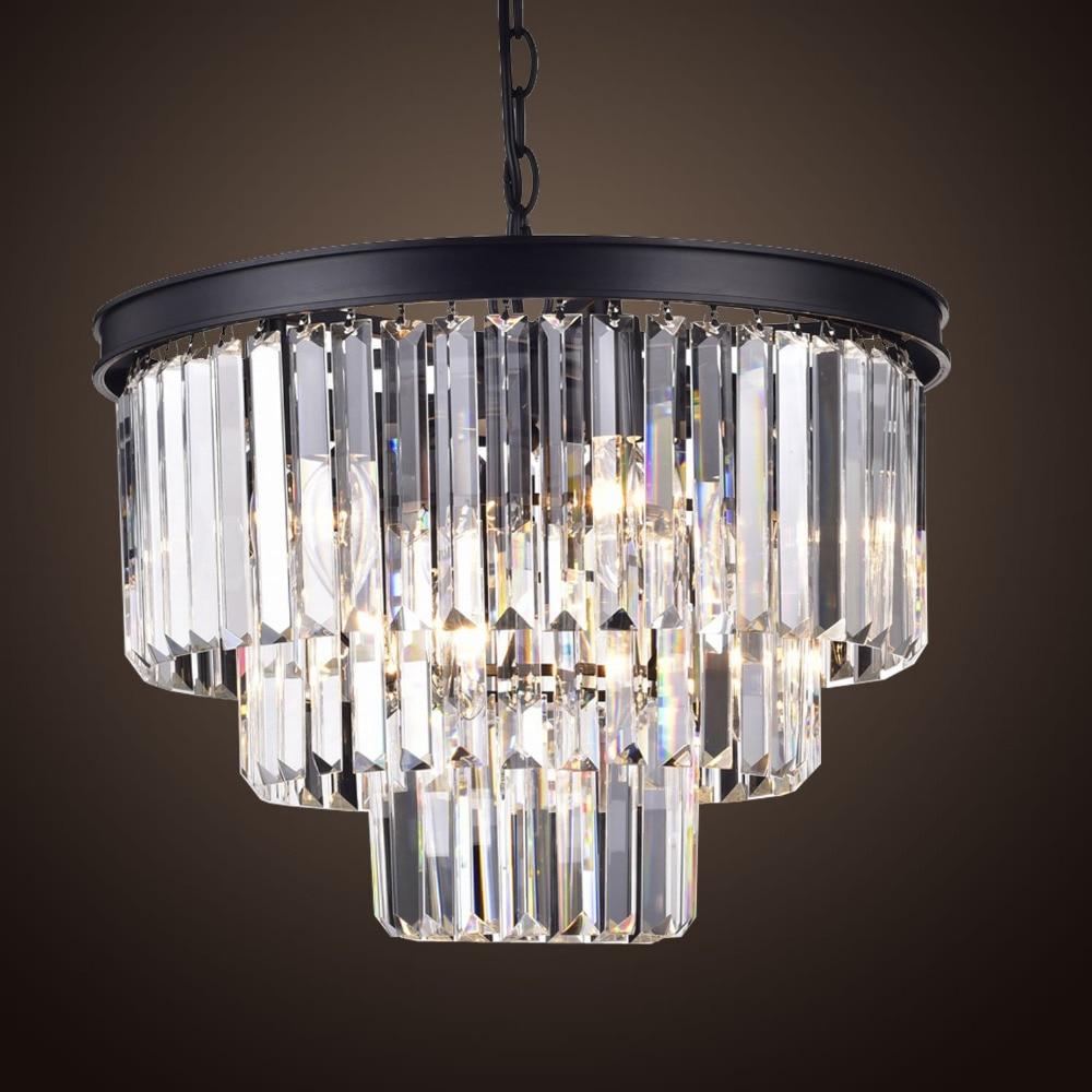 Vintage LED Pendentif Lumières Lustres Noir Pendentif Lampe ...