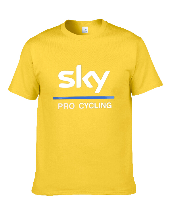 2018 Wholesale Tees T Shirt team sky sky team Men Casual T-Shirt Tops Shirt fast shipping 8colour