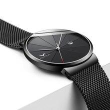 Часы наручные ONOLA мужские ультратонкие, брендовые дизайнерские модные повседневные водонепроницаемые кварцевые роскошные с металлическим корпусом, цвет черный/золотой