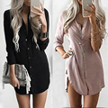 2017 Women Shirts Dresses Ukraine Women Autumn Winter Long Sleeve Casual Shirt Dress Mini Vintage Party Vestidos Plus Size W2