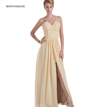 Fashion Designer 2019 Long Formal Evening Dresses A Line V Neck Halter Slit Sexy Vestidos Elegant Women Party Gowns Custom Made