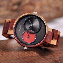 Relogio masculino Watch Men Women BOBO BIRD Quartz Wristwatch Male Ladies 2 Time Zone