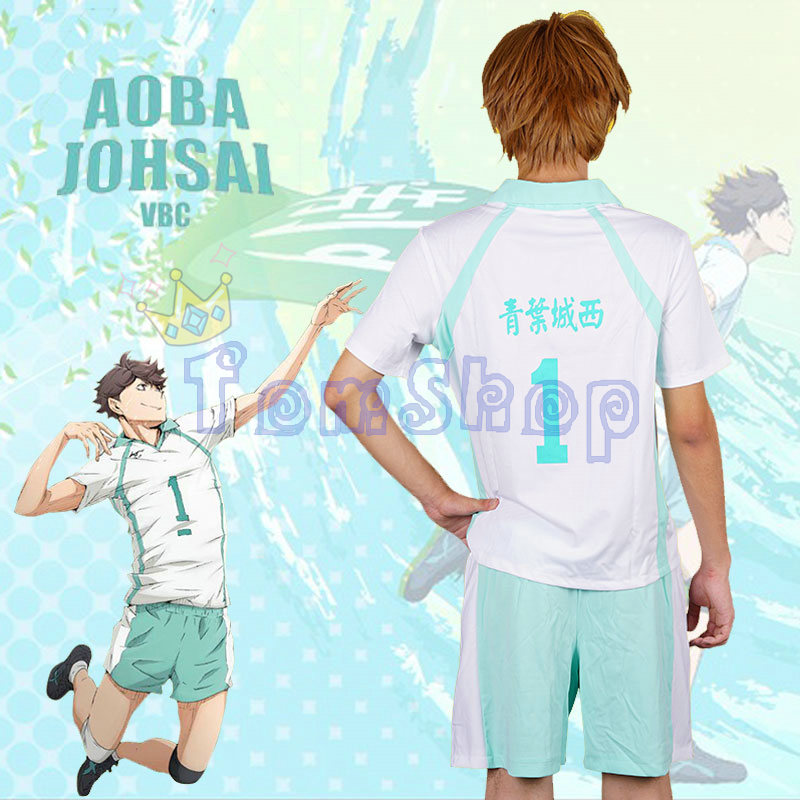 Haikyuu!! Aoba Johsai High School #1 Toru Oikawa Tooru Cosplay Costume Jersey&Shorts Suit Set Sportswear Uniform