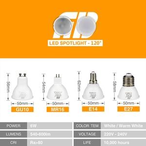 Image 3 - 10pcs LED Light Bulb Spotlight GU10 MR16 E14 E27 6W 220V COB Chip Beam Angle 24 120 Degree Spotlight For Table Lamp Wall Light