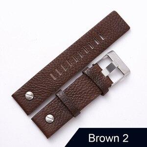 "Image 5 - חדש עיצוב שעון אביזרי שעון להקת עבור דיזל Watchbands 22 מ""מ 24 מ""מ 26 מ""מ 28 מ""מ רטרו שעון רצועה צמיד"