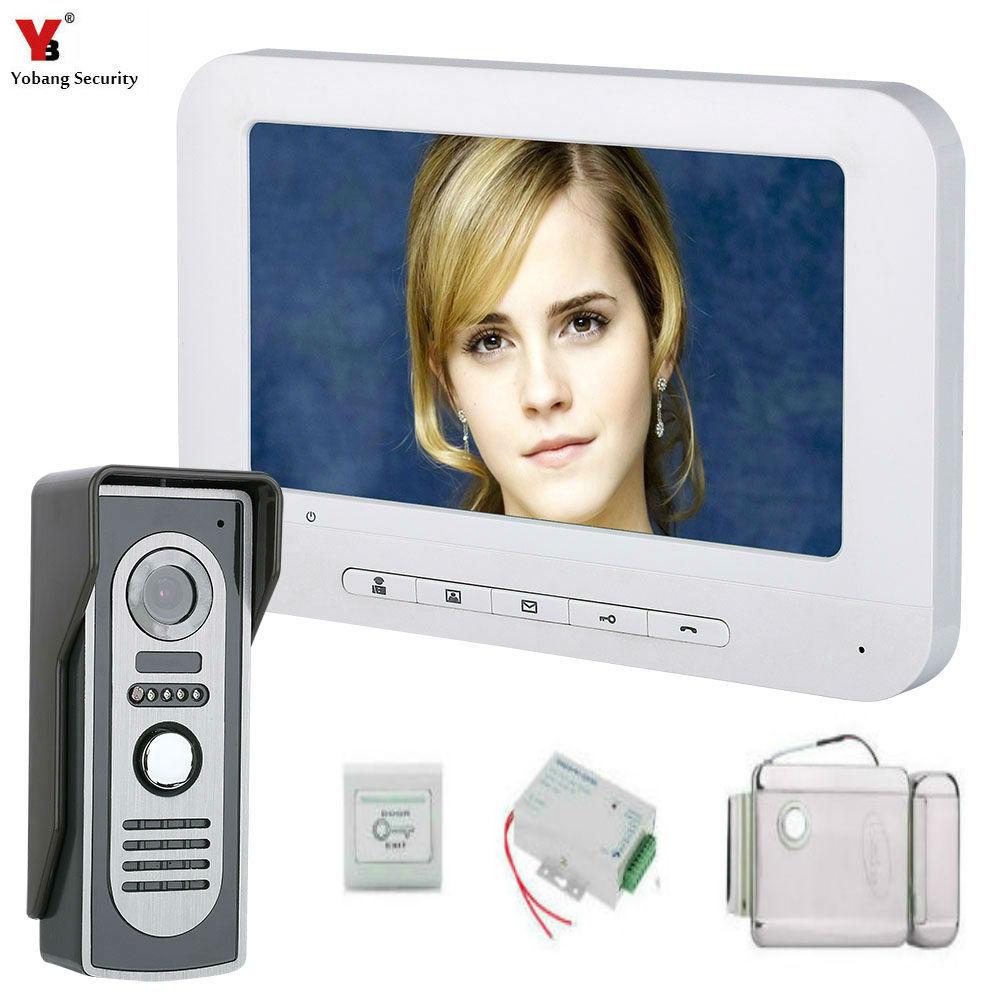 Yobang Security 7'' TFT LCD Wired Video Door Phone Visual Video Intercom Speakerphone Intercom System With Waterproof Camera