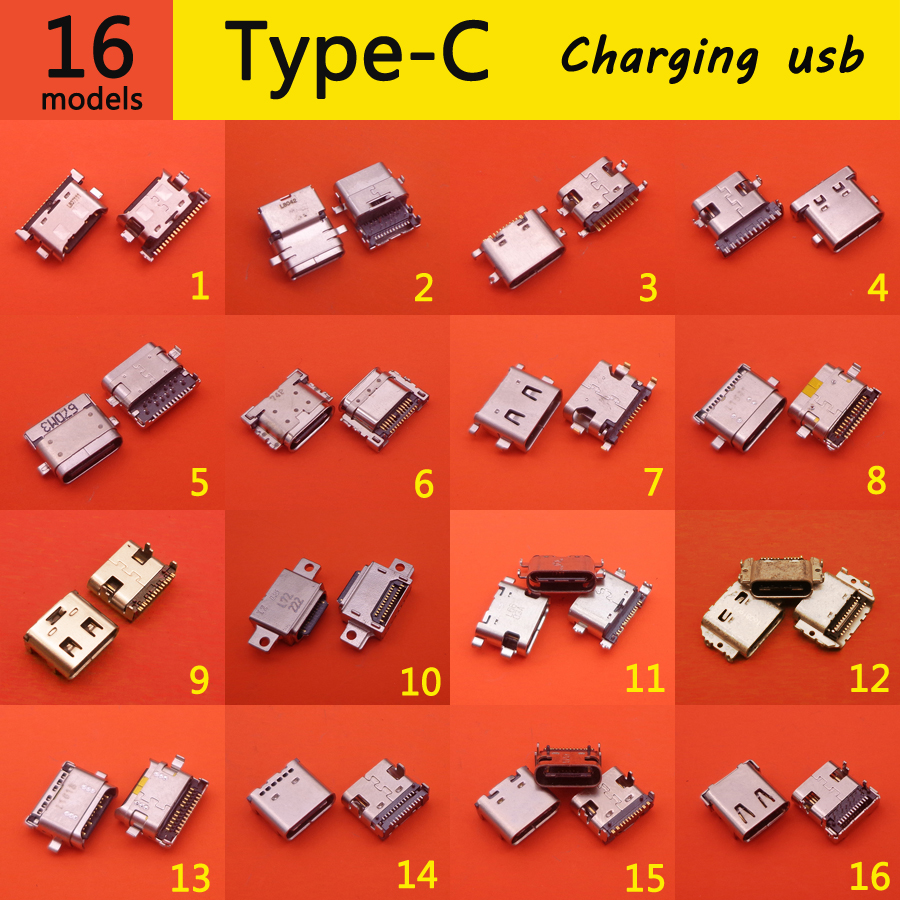 16Model USB 3.1 Type C Connector Female Tab USB 3.1 Version Socket Receptacle For HUAWEI MEIZU LeTV Xiaomi Usb Charging Port
