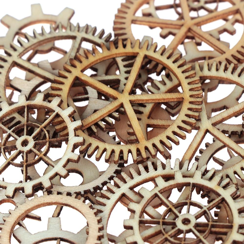 30Pcs DIY Unfinished Frame Carved Embellishment For Scrapbooking Crafts N7