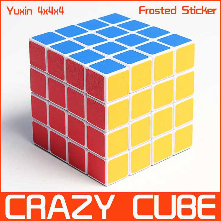 Cheap Yuxin White Frosted Sticker 4x4x4 Magic Cube Puzzle 4x4 Puzzles Speed spring Cubes Twist Toy - Crazy store