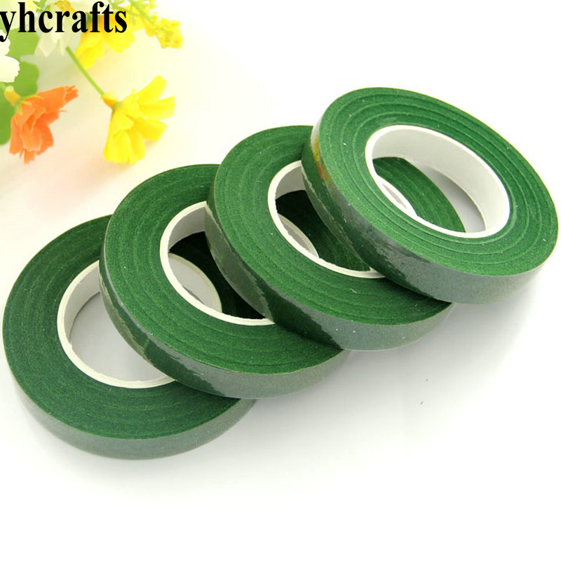 1 Roll(30 Meter)/LOT.Floristry Green Tape Lining Pole Wrapped DIY Flower Supplies Craft Material Kindergarten Craft Diy Toys OEM