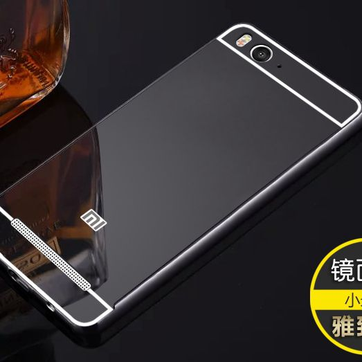 Women Men Boy Aluminium Bumper Case For Xiaomi 4C 4I 4S 5C Luxury Metal Mirror Case For Redmi 3 Pro 3S Note 4 Pro 4X Note 3 ...
