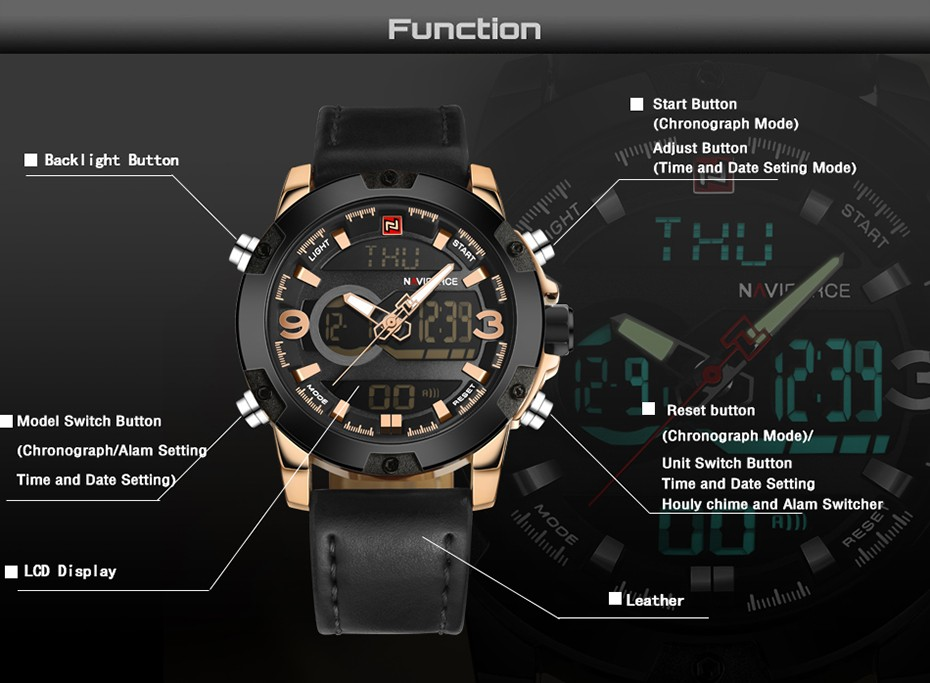 Naviforce NF9097 Men Army Military Watch