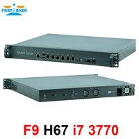 1U 6 Intel Lan 82580DB SFP Optical fiber Intel H76 Chipset processor Firewall 1U router OEM fiber gigabit router i7 3770