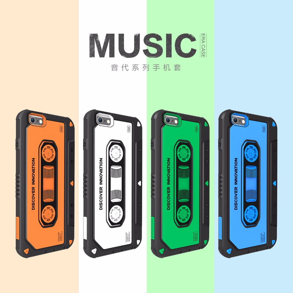 Nillkin Music Era Phone Cases Accessoried Shockproof Back Case Cover for iPhone 6 6s Plus Cell Phone Protective Back Case