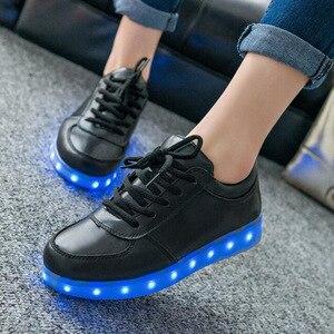 Image 2 - KRIATIV zapatos iluminados con cargador USB para niño y niña, zapatillas luminosas con luz led, informales