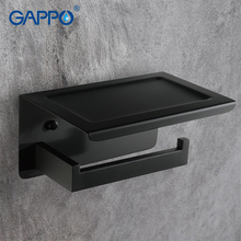 купить GAPPO Paper Holders black wall mounted accessories bath holders bathroom Paper holder bars toilet holders по цене 2018.22 рублей
