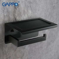 GAPPO Paper Holders black wall mounted accessories bath holders bathroom Paper holder bars toilet holders