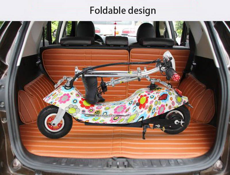 Top 261025/Ladies mini folding car bicycle scooter adult student portable two rounds/Scrub pedal 30-50km/h velo electrique 3