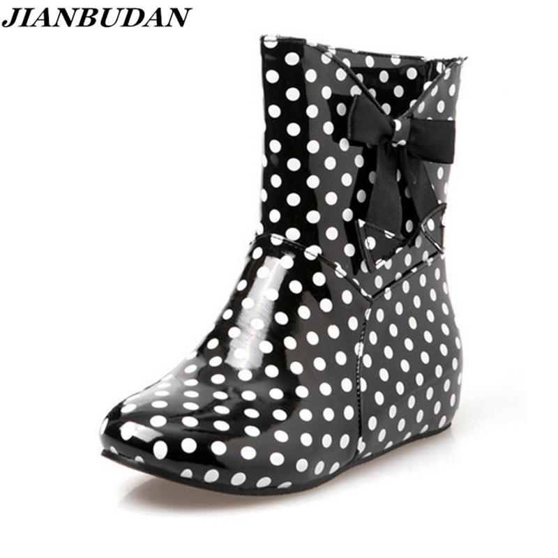 JIANBUDAN Rain boots women with short boots the new 2017 high quality waterproof boots ms antiskid Rubber sole boots Size 35-43 the new spring and summer ms south korea ensure their boots comfortable show female water thin antiskid tall canister shoe