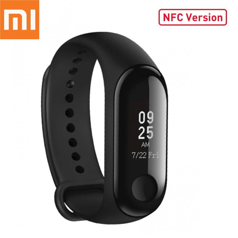 Original Xiaomi Mi Band 3 NFC Version Smart band Wristband Bracelet OLED Display Miband 3 Fitness Tracker Waterproof цены онлайн