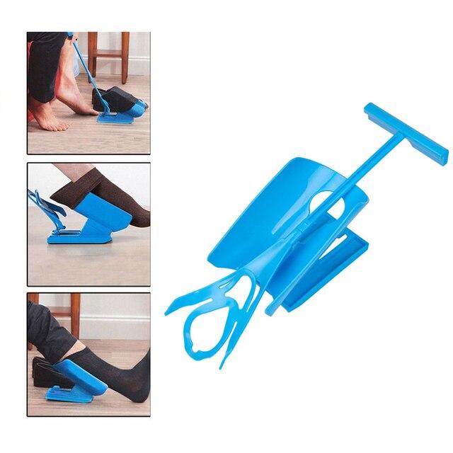 Mang thai Người Cao Tuổi Vớ Mặc Giày Sừng Thiết Bị Trượt Dễ Dàng on/tắt Sock Kit Viện Trợ Giày Sừng Thiết Bị Không Uốn kéo dài Căng Thẳng