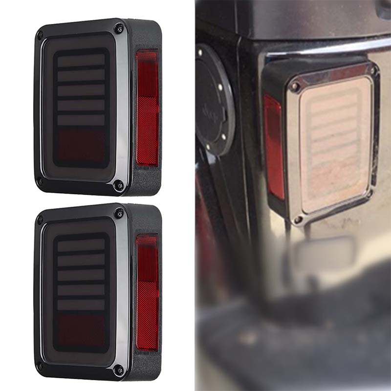 цена на LED Tail light for Jeep Wrangler JK Brake Reverse Turn singal lamp Back Up Rear Parking Stop light Daytime Running Bulb DRL