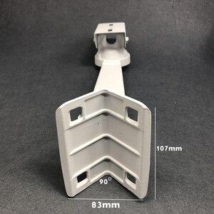 Image 4 - 보안 감시 CCTV IP 카메라 브래킷 화이트 알루미늄 90도 직각 외벽 코너 암 브래킷 CCTV 액세서리
