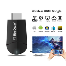цена на Miracast 1080P TV Stick Wireless WiFi Display TV HD 2.4G/5G Dual Core HDMI TV Stick Wifi Display Receiver Dongle for iOS Android
