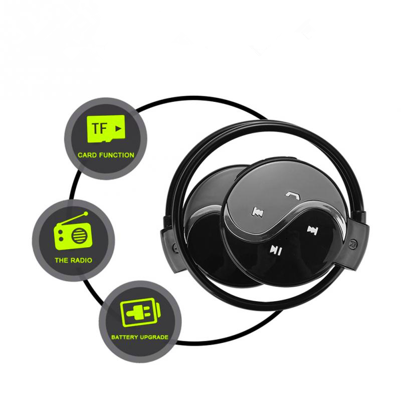 Best Headphones Bluetooth Sports With Micro Support TF Card Slot+FM Radio headphones for a mobile phone xiaomi huawei p 20 pro ces hot black mini sports earphones headphones headset mp3 player support micro sd tf fm radio
