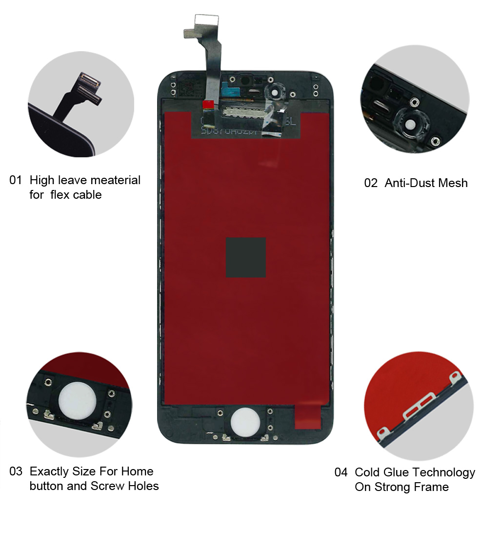 HTB1PlvoeA5E3KVjSZFCq6zuzXXaB AAA Quality LCD For iPhone 4 4s Replacement Screen Display Digitizer Touch Screen Assembly For iPhone 6 6s 7 LCD Screen