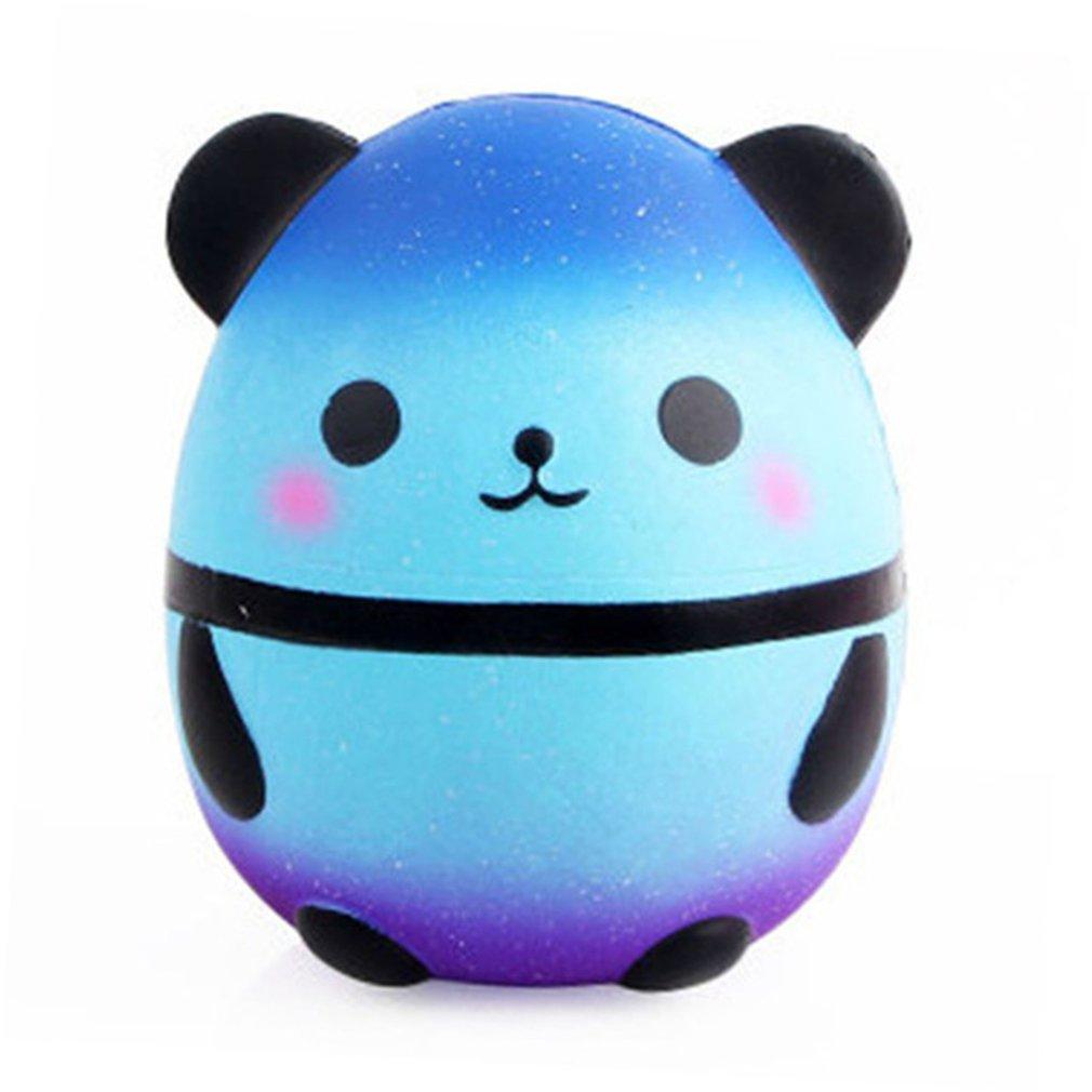 Galaxy Squishy Panda Squish Anti-Stress Toy Cute Blue Panda Squishi Novel Funny Toys For Children Antistress Slow Rising Case