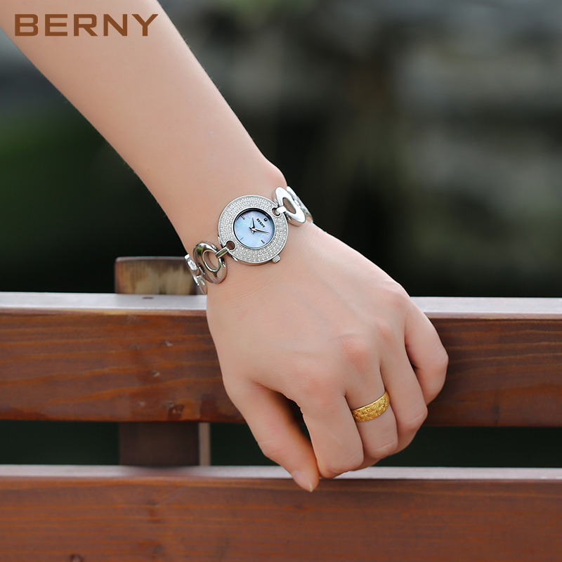 Berny Women Watch Quartz Lady Watches Fashion Top Brand Luxury Relogio Saat Montre Horloge Feminino Bayan Femme Christmas Gift