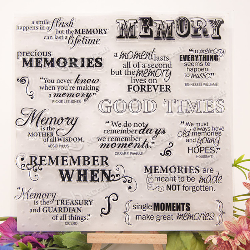 Memory silicone rubber Clear Stamp Seal DIY Scrap booking Album Photo Cards  Re