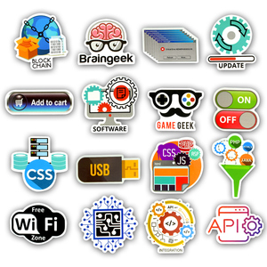 Image 3 - 50 PCS Programming Language Stickers Internet Html Software Waterproof Sticker for Geek Hacker Developer to DIY Laptop Phone Car