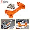 De alta Calidad de La Motocicleta del CNC De Aluminio Manillar Risers Tapa superior Abrazadera de Ajuste Para Dirt Bike KTM DUKE 390 200 125