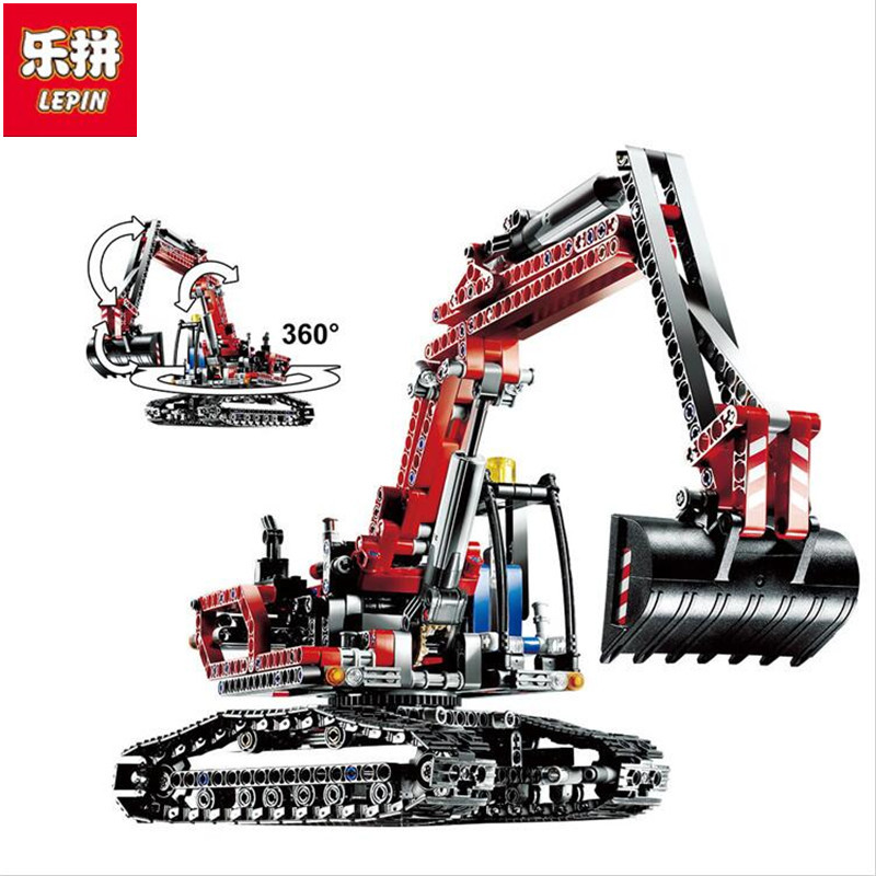Lepin 20025 760Pcs Genuine Technic Series The Red Excavator Set Educational Building Blocks Bricks Boys Toys For Children lepin 20025 760pcs technic series red excavator building blocks bricks toys for children gift