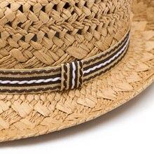 Prevalente trabajo hecho a mano mujeres verano paja Sol sombrero Boho Beach  Fedora sombrero Sol sombrero 6e03c37a7972
