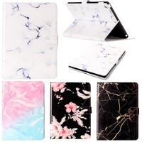 High Quality Marble Pattern PU Leather Flip Case For Apple IPad Air 2 Case Smart Cover