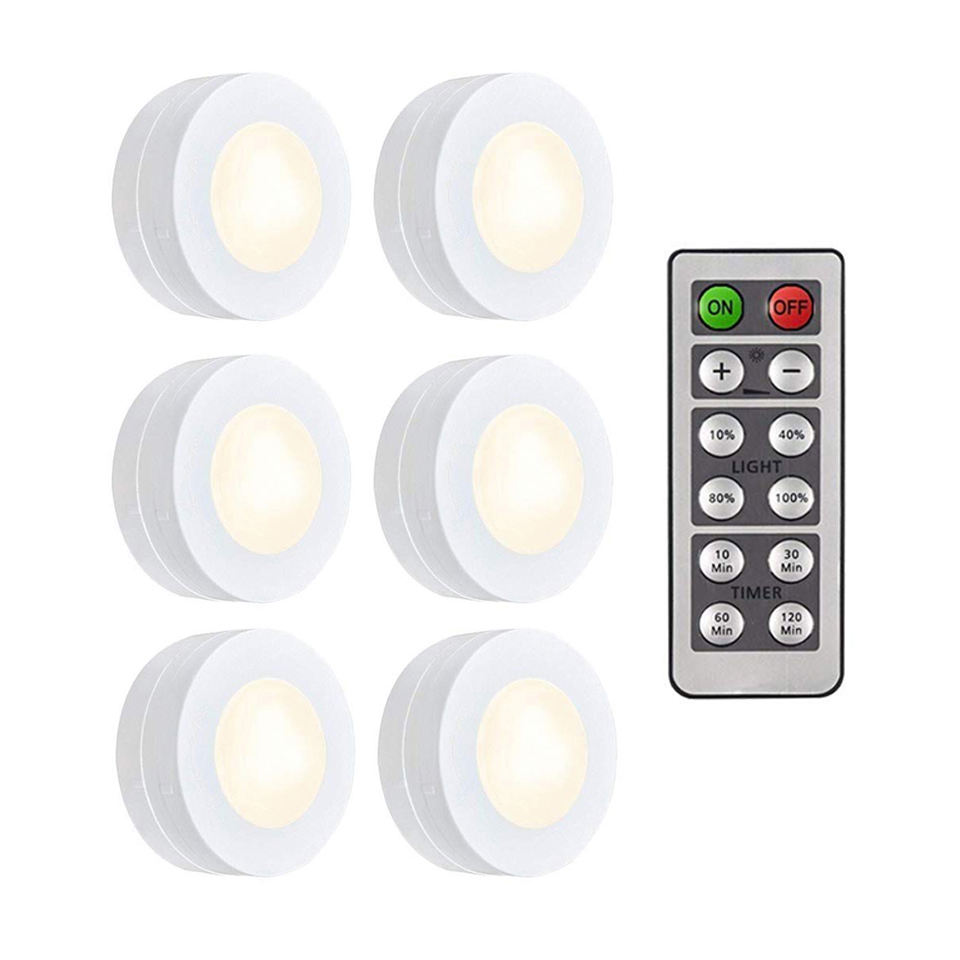 Xsky Touch Sensor Led Under Cabinets Lights Dimmable Led Puck Light For Kitchen Wardrobe Stair Closet Night Lamp Battery Powered Lights & Lighting
