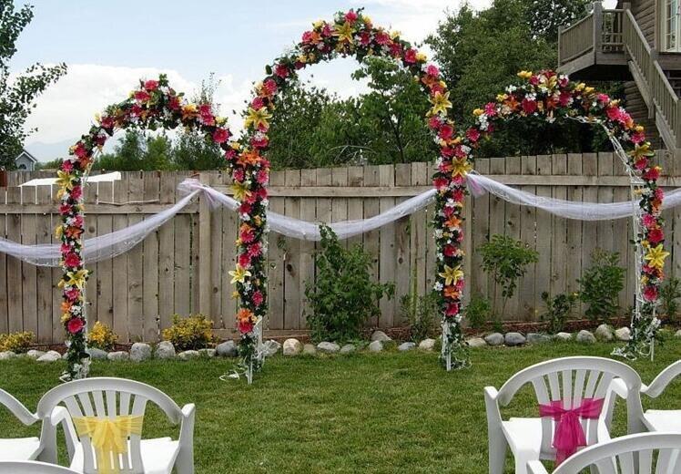 nueva decoracin de la boda del arco de metal se